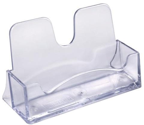 Подставка для визиток настольная СТАММ, 40х100х55 мм, прозрачная, ВТ01 подставка для бумажного блока стамм пластиковая 90х90х90 мм прозрачная пл41