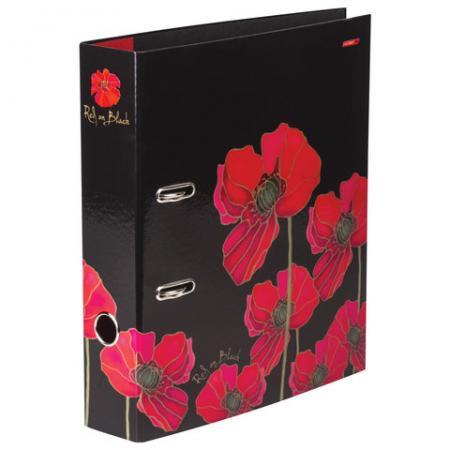 Папка-регистратор 70 мм, Red on Black, 2-х стороняя запечатка, ПР4 10643, V119778 папка регистратор hatber red on black ширина корешка 70 мм цвет черный красный
