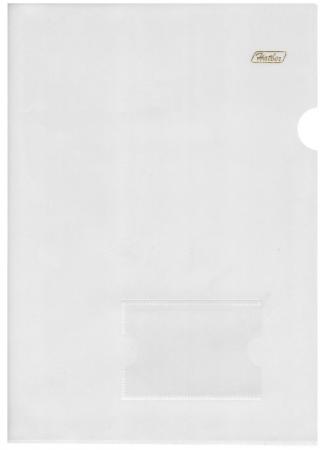 Папка-уголок с карманом для визитки, А4, прозрачная, 0,18 мм, AGкм4 00100, V246931 105sl plus 103 80e 00100