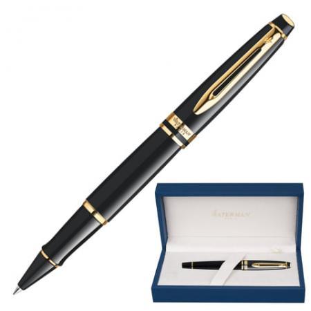 Ручка-роллер роллер Waterman Expert 3 Black Lacquer GT черный 0.5 мм waterman ручка роллер expert 3 black laque waterman s0951680