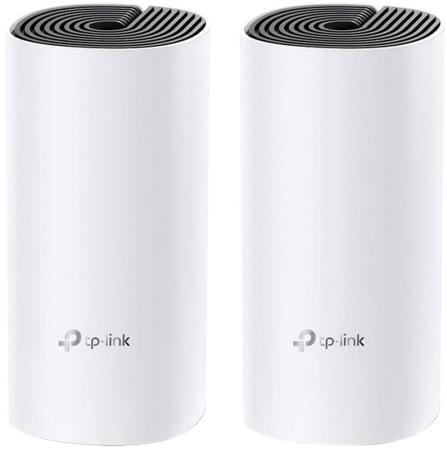 Wi-Fi роутер TP-LINK Deco M4 (2-pack) 802.11abgnac 1167Mbps 2.4 ГГц 5 ГГц 2xLAN LAN белый роутер tp link deco m9 plus 3 pack ac2200 mesh wi fi система для умного дома