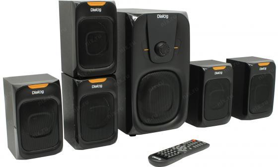 Колонки Dialog Progressive AP-505 BLACK - 5.1, 45W+5*7W RMS, Bluetooth, USB, SD, FM, RC 5 1 колонки creative inspire t6300 22 5 7w black