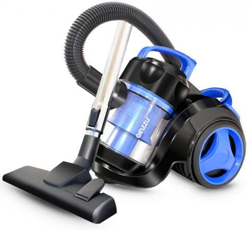 Пылесос Ginzzu VS420, 1700/275 Вт., без мешка, циклонный фильтр, чёрный/синий пылесос ginzzu vs117