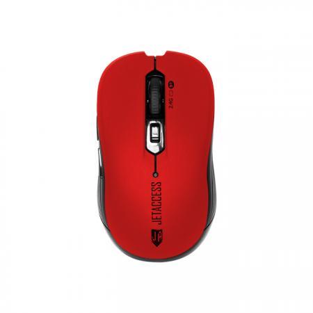 Беспроводная мышь Jet.A Comfort OM-B90G красная (1000/1600dpi, 5 кнопок, USB & Bluetooth)
