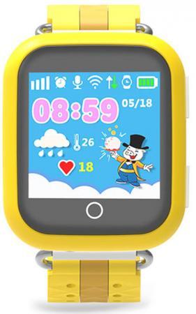 """Умные часы детские GiNZZU® GZ-503 yellow 1.54"""" Touch/Геолокация по WI-FI/GPS/LBS/Гео-зоны/Кнопка SOS/nano-SIM недорого"""