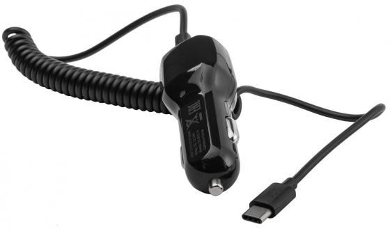 Автомобильное зарядное устройство Harper CCH-3118 2.1A USB USB-C черный автомобильное зарядное устройство olto cch 2200 2а usb белый harper o00000961