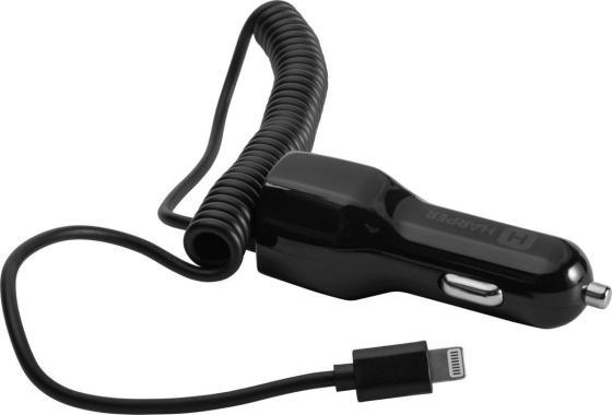 Автомобильное зарядное устройство Harper CCH-3115 2.1A USB 8-pin Lightning черный автомобильное зарядное устройство harper cch 3113 h00002155 black