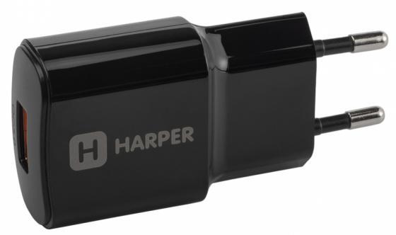 Сетевое зарядное устройство Harper WCH-8833 3 А черный H00002168 цена и фото