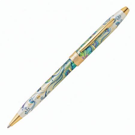 Ручка шариковая шариковая CROSS Зеленая лилия черный 0.7 мм