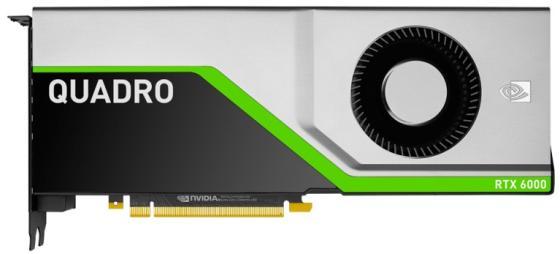 Проф видеокарта 24Gb <PCI-E> PNY nVidia Quadro RTX 6000 <GDDR6, 384 bit, 4*DP, Virtual Link, DP to DVI-D (SL) cable, 8 pin power supply cable>