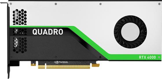 Проф видеокарта 8Gb <PCI-E> PNY nVidia Quadro RTX 4000 <GDDR6, 256 bit, 3*DP, Virtual Link, Retail> видеокарта 1024mb pny quadro nvs 315 pci e dvi 2xdp low profile vcnvs315dp pb retail