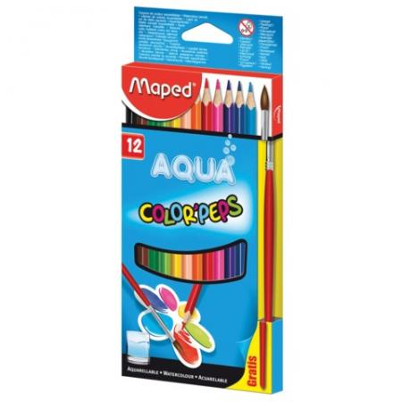 Набор цветных карандашей Maped Color Pep's 12 шт 175 мм акварельные маркеры для доски maped франция набор 12 шт marker pep s круглый наконечник 1 5 мм