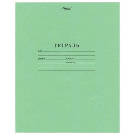 Тетрадь школьная Hatber Зелёная обложка 12 листов клетка скрепка тетрадь общая hatber new line 96 листов клетка скрепка
