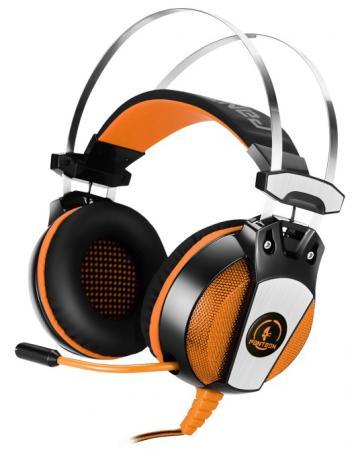 Игровая гарнитура проводная Jet.A Panteon GHP-600 Pro черный оранжевый