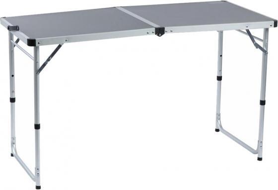Стол походный Camping World Funny Table Grey (цвет серый, чехол, допустимая нагрузка до 30 кг, размер 120х60х53/62/70 см)