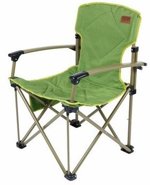 Элитное складное кресло Camping World Dreamer Chair green (чехол, боковой карман, мягкое сиденье и спинка, вес 4.8кг, цвет-зеленый)
