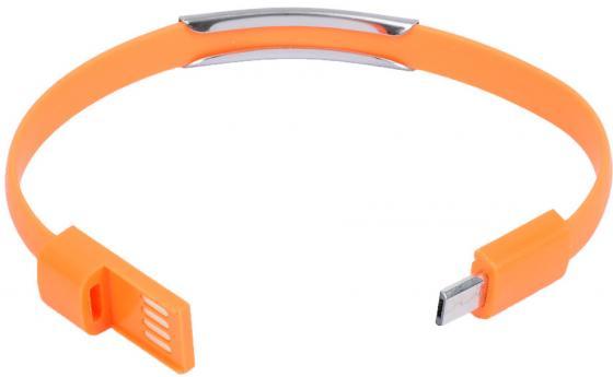Кабель-браслет microUSB Gmini GM-WDC-200O плоский оранжевый