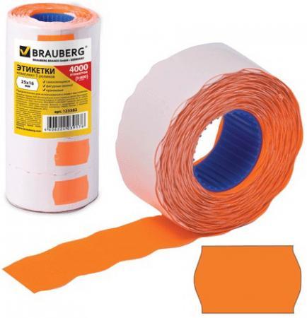 Фото - Этикет-лента 26х16 мм, волна, оранжевая, комплект 5 рулонов по 800 шт., BRAUBERG, 123582 кромка marbet трикотаж хлопок 42 х 6 см цвет бежевый 006