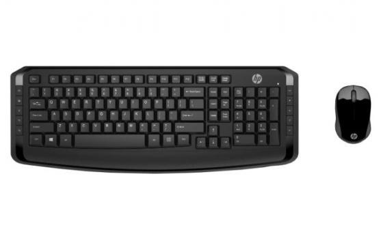 лучшая цена Клавиатура + мышь HP 300 USB беспроводная