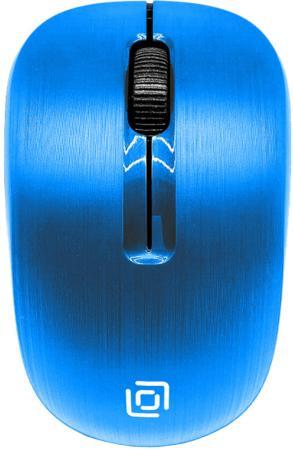 лучшая цена Мышь Oklick 525MW голубой оптическая (1000dpi) беспроводная USB (2but)