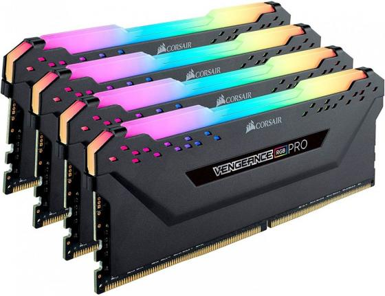 Память DDR4 4x16Gb 3200MHz Corsair CMW64GX4M4C3200C16 RTL PC4-25600 CL16 DIMM 288-pin 1.35В цена и фото