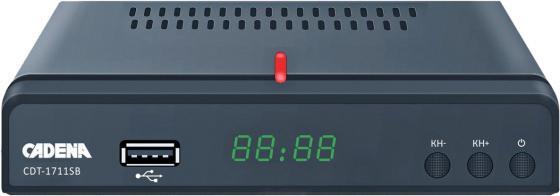 Фото - Ресивер DVB-T2 Cadena CDT-1711SB черный tv тюнер cadena cdt 1815sbd черный
