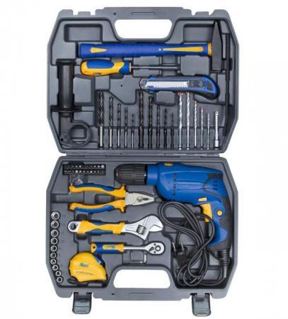 KRAFT Набор инструментов с дрелью 60 предметов [KT 703005] набор инструментов kraft kt 700444