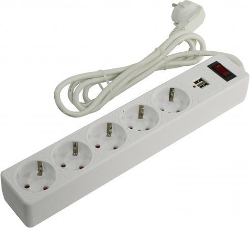 Smartbuy SBSP-18U-W Сетевой фильтр с USB, 10А, 2 200 Вт, 5 розеток, длина 1,8 м, белый (SBSP-18U-W)/45 h b070d 18u