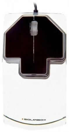 SolarBox X07 Black USB Travel Optical Mouse, 1000DPI, прозрачный корпус с LED-подсветкой