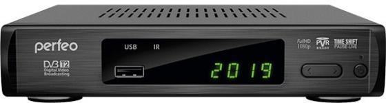 Фото - Perfeo DVB-T2/C приставка LEADER для цифр.TV, Wi-Fi, IPTV, HDMI, 2 USB, DolbyDigital, пульт ДУ приставка dvb t2 lumax gx2325s пластик 3 5 jack usb hdmi wi fi dolby digital megogo iptv плейлисты кинозал lumax youtube 0 3кг внешний блок питания