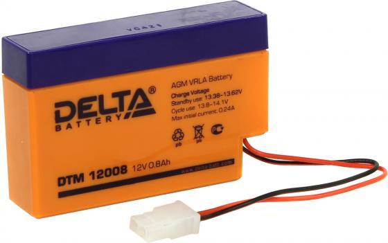 цена на Delta DTM 12008 (0.8 А\\ч, 12В) свинцово- кислотный аккумулятор
