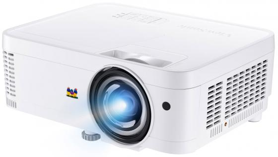 лучшая цена ViewSonic PS501W Проектор {DLP 1280x800 3500Lm, 22000:1, VGA IN: 2; HDMI: 1; USB TypeA: Power (5V/1.5A); Speaker: 2W Lamp norm: 5000h; Lamp eco: 15000h}