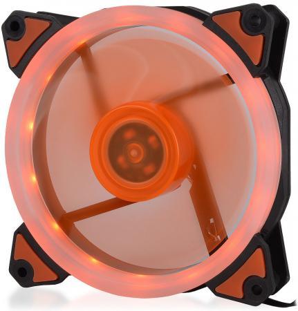 CROWN Вентилятор для компьютерного корпуса CMCF-12025S-1233 (120*120*25мм;Оранжевое LED кольцо;1500 об/мин;35CFM;20Дб;Подшипник скольжения;3pin+MOLEX(папа-мама) 40+10см) вентилятор id cooling no 4010 sd 3pin molex 40 40 10 мм 4500об мин 12vdc