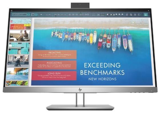"Монитор 23.8"" HP EliteDisplay E243d черный серебристый IPS 1920x1080 250 cd/m^2 7 ms HDMI Mini DisplayPort VGA USB Аудио USB Type-C 1TJ76AA цена и фото"