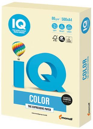 Бумага IQ color, А4, 80 г/м2, 500 л., пастель розовый фламинго, OPI74