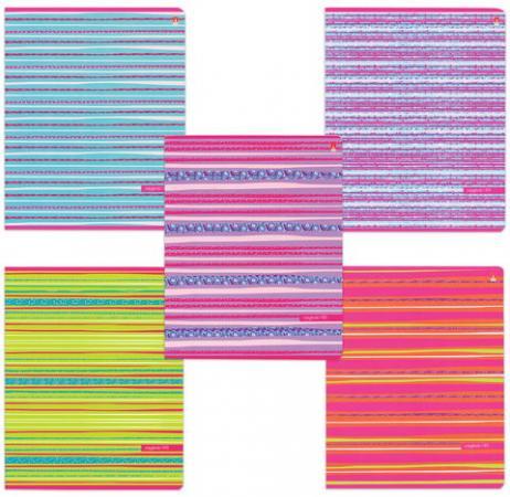 Тетрадь 48 листов, АЛЬТ, клетка, сплошной лак, Fresh-настроение, 7-48-307 альт тетрадь альт лавандовое настроение 48 листов 5 шт клетка