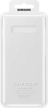 Купить Чехол (клип-кейс) Samsung для Samsung Galaxy S10+ Clear Cover прозрачный (EF-QG975CTEGRU)