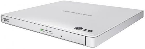 Внешний привод DVD±RW LG GP57EW40 USB 2.0 белый Retail внешний привод dvd±rw lite on ebau108 usb 2 0 белый retail
