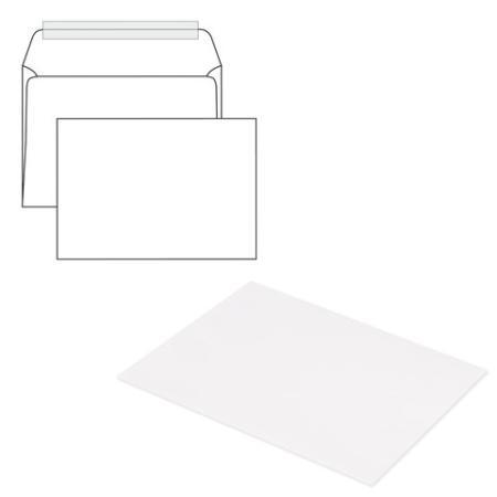 демисезонные конверты Конверты С4, комплект 500 шт., отрывная полоса STRIP, белые, 229х324 мм