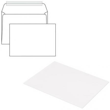 демисезонные конверты Конверты С5, комплект 1000 шт., отрывная полоса STRIP, белые, 162х229 мм
