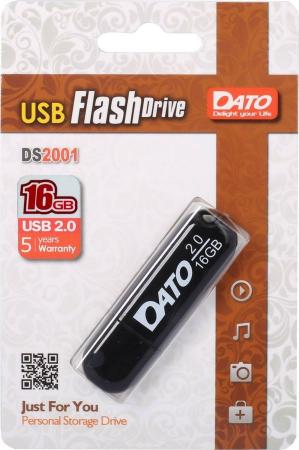 Фото - Флешка 16Gb Dato DS2001-16G USB 2.0 черный usb flash drive 16gb dato ds7012 usb 2 0 black ds7012k 16g