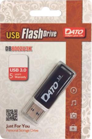 Фото - Флеш Диск Dato 64Gb DB8002U3 DB8002U3K-64G USB3.0 черный usb flash drive 64gb dato db8002u3 usb 3 0 blue db8002u3b 64g