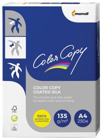 Фото - Бумага COLOR COPY SILK, мелованная матовая, А4, 135 г/м2, 250 л., для полноцветной лазерной печати, А++, Австрия, 138% (CIE), A4-27404 лента для полноцветной печати ymc 800012 141
