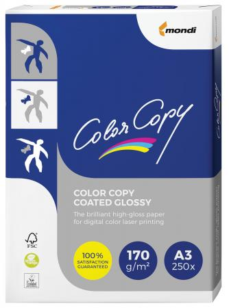 Бумага COLOR COPY GLOSSY, мелованная, глянцевая, А3, 170 г/м2, 250 л., для полноцветной лазерной печати, А++, Австрия, 138% (CIE) color copy glossy 135 г м2 320x450 мм