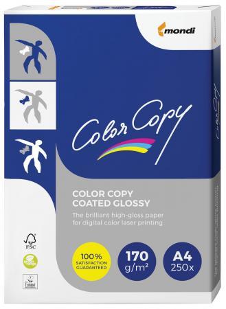 купить Бумага COLOR COPY GLOSSY, мелованная, глянцевая, А4, 170 г/м2, 250 л., для полноцветной лазерной печати, А++, Австрия, 138% (CIE) по цене 850 рублей