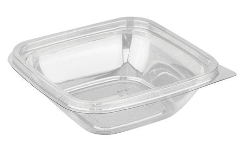 Одноразовый контейнер квадратный, 250 мл, БЕЗ КРЫШКИ, 126х126х38,5 мм, ПЭТ, прозрачный, крышка 604319, СТИРОЛПЛАСТ, СпК-1212-250