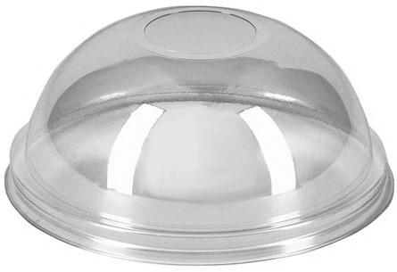 Крышки купольные с отверстием, комплект 50 шт., ПЭТ, d - 95 мм, прозрачные, стаканы 605096, 605097, 605098