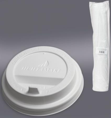 Одноразовая крышка для стакана Хухтамаки (диаметр - 80 мм) SP9, DW9, комплект 100 шт., пищевой полистирол