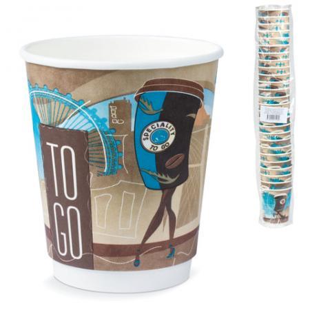 Одноразовые стаканы Хухтамаки, комплект 26 шт., бумажные двухслойные, 200 мл, цветная печать, для холодного/горячего, DW9