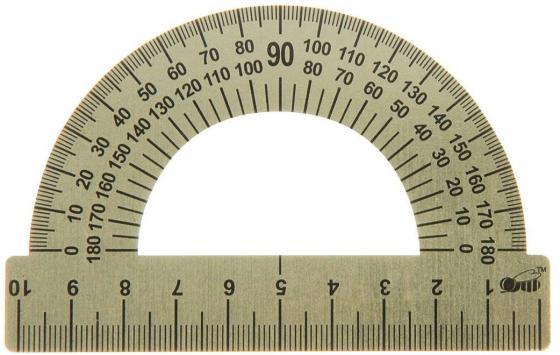 Транспортир 10 см, 180 градусов, металлический, ТС-10 цены онлайн
